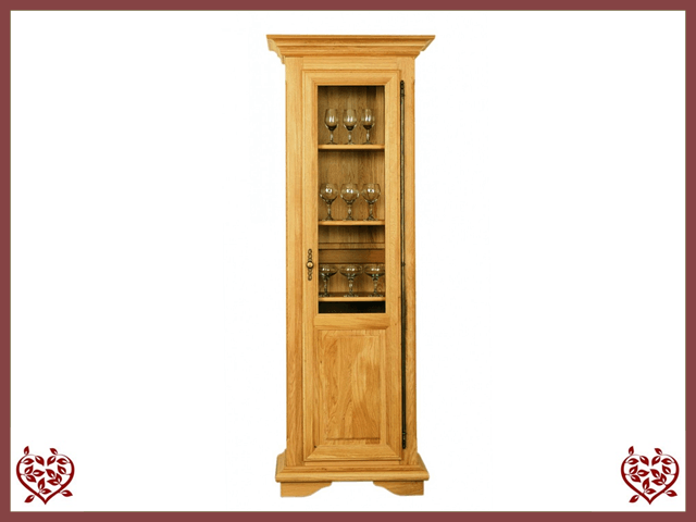 COURTIER OAK DISPLAY CABINET – 1 DOOR | Paul Martyn Furniture UK