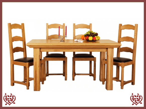 COURTIER OAK DINING TABLE