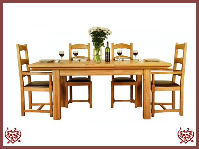 COURTIER OAK EXTENDING DINING TABLE