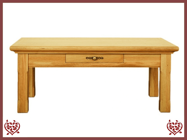 COURTIER OAK COFFEE TABLE/1DRAWER