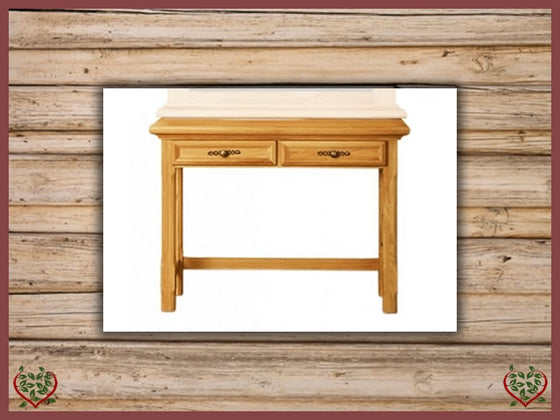 COURTIER OAK HALL TABLE, 2 DRAWERS Paul Martyn Furniture UK