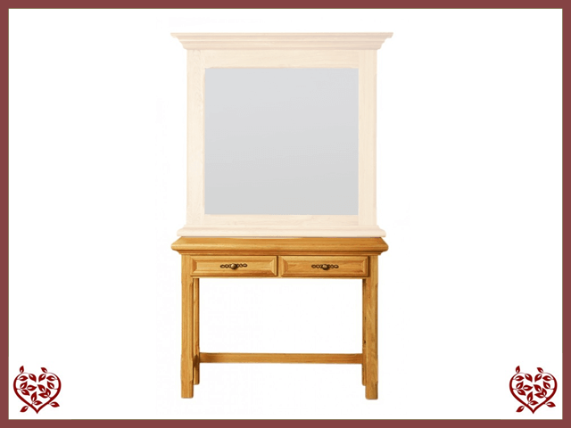 COURTIER OAK HALL TABLE, 2 DRAWERS