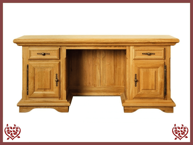 COURTIER OAK DESK – 2 DOORS/2 DRAWERS
