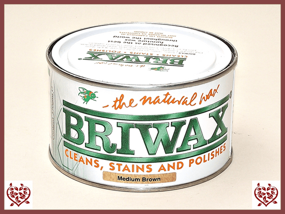 BRIWAX – MEDIUM BROWN WAX 370G | Wood Care