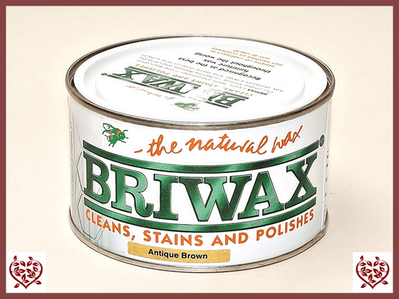 BRIWAX – ANTIQUE BROWN WAX 370g - paul-martyn-furniture
