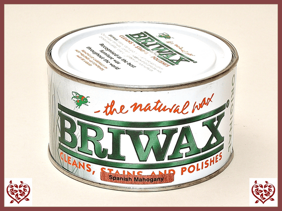 BRIWAX – SPANISH MAHOGANY 370G | Wood Care | Paul Martyn Furniture UK
