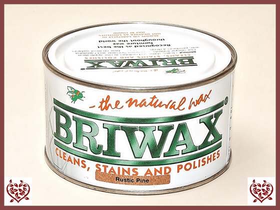 BRIWAX – RUSTIC PINE WAX 370G | Wood Care Paul Martyn Furniture UK