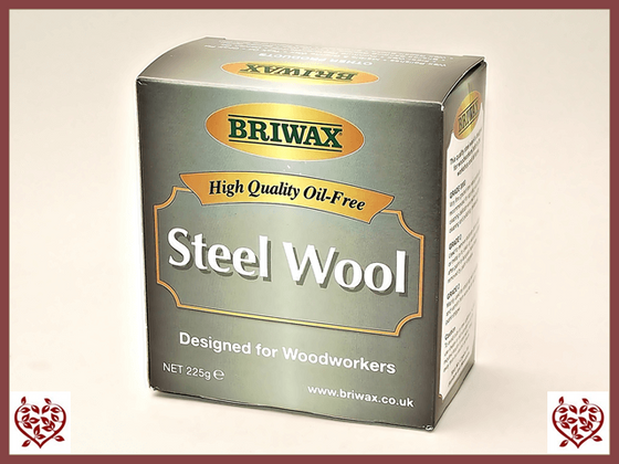 BRIWAX – STEEL WOOL – FINE GRADE 0000 Paul Martyn Furniture UK