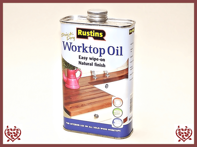 RUSTINS -QUICK DRYING WORKTOP OIL 500ml | Paul Martyn Furniture UK