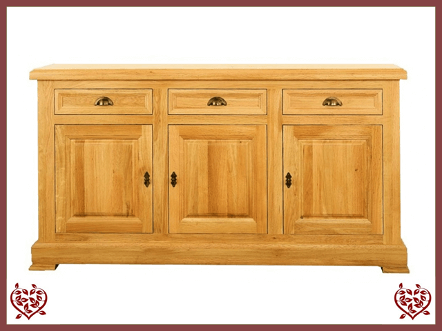 MANOR OAK SIDEBOARD – 3 DOORS/3 DRAWERS