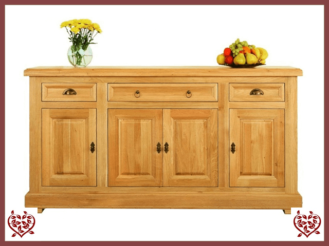 MANOR OAK SIDEBOARD – 4 DOORS AND 3 DRAWERS - paul-martyn-furniture