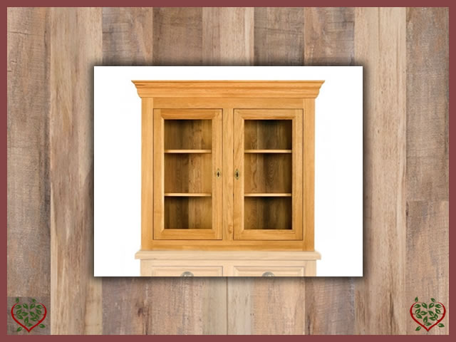 MANOR OAK GLAZED CABINET TOP ONLY – 2 DOORS | Paul Martyn Furniture UK