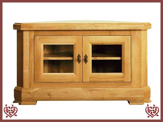 MANOR OAK CORNER TV UNIT – 2 DOORS - paul-martyn-furniture