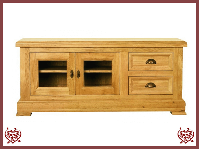 MANOR OAK TV CABINET – 2 DOORS/2 DRAWERS