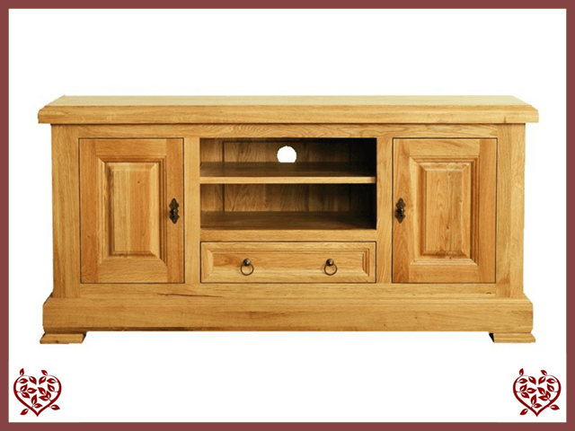 MANOR OAK WIDESCREEN TV CABINET u2013 2 DOORS/1 DRAWER : 2 doors - Pezcame.Com
