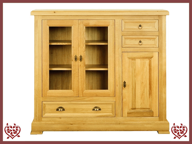MANOR OAK HIGHBOARD – 3 DOORS/3 DRAWERS