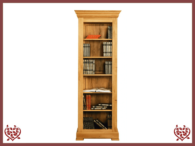 MANOR OAK BOOKCASE DISPLAY CABINET - 511270 - paul-martyn-furniture