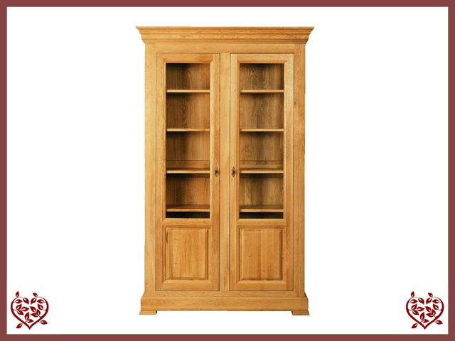 MANOR OAK DISPLAY CABINET – 2 DOORS Paul Martyn Furniture UK