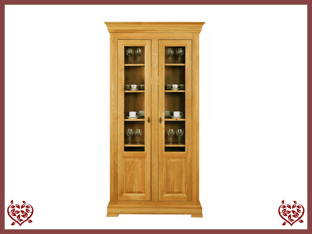 MANOR OAK DISPLAY CABINET – 2 DOORS - paul-martyn-furniture