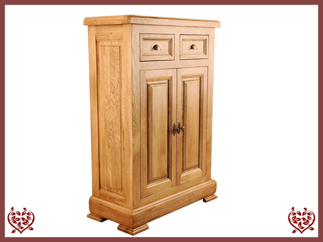 Manor Oak Storage Cabinet 2 Doors2 Drawers Paul Martyn Furniture