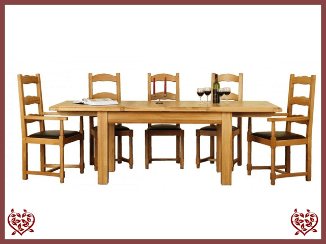 MANOR OAK EXTENDING DINING TABLE