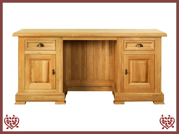 MANOR OAK DESK – 2 DOORS/2 DRAWERS - paul-martyn-furniture
