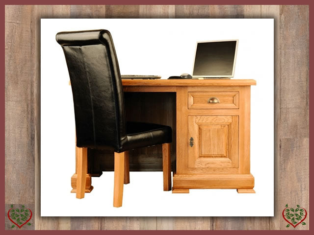 MANOR OAK DESK – 1 DOOR/1 DRAWER | Paul Martyn Furniture UK