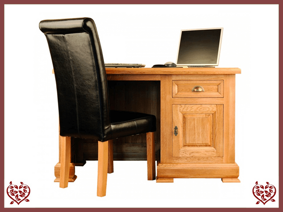 MANOR OAK DESK – 1 DOOR/1 DRAWER