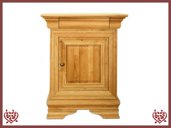 CHANCELLOR OAK CUPBOARD, 1 DOOR/1 DRAWER - paul-martyn-furniture