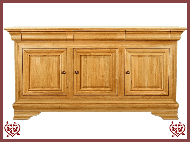 CHANCELLOR OAK SIDEBOARD, 3 DOORS/3 DRAWERS - paul-martyn-furniture