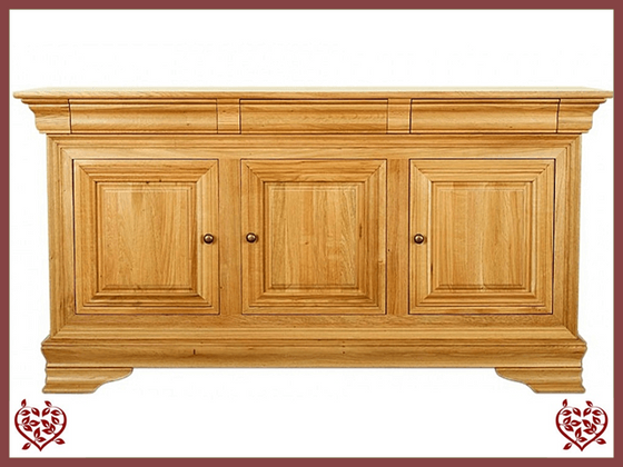 CHANCELLOR OAK SIDEBOARD, 3 DOORS/3 DRAWERS