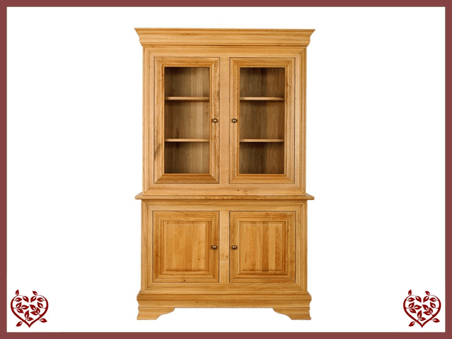 CHANCELLOR OAK CABINET BASE AND TOP, 4 DOORS