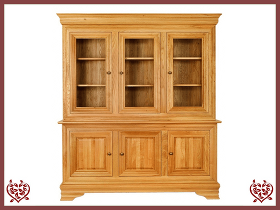 CHANCELLOR OAK CABINET BASE AND TOP, 6 DOORS
