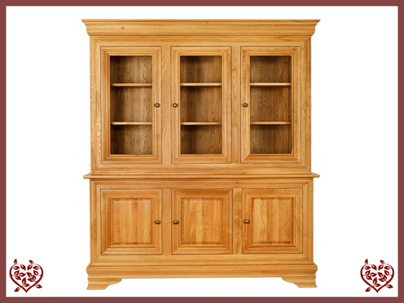 CHANCELLOR OAK CABINET BASE AND TOP, 6 DOORS - paul-martyn-furniture