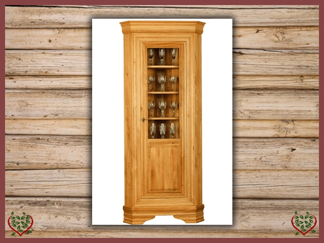 CHANCELLOR CORNER DISPLAY CABINET – 1 DOOR | Paul Martyn Furniture UK
