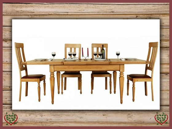CHANCELLOR OAK EXTENDING DINING TABLE Paul Martyn Furniture UK