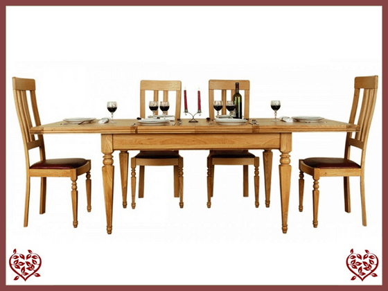 CHANCELLOR OAK EXTENDING DINING TABLE - paul-martyn-furniture