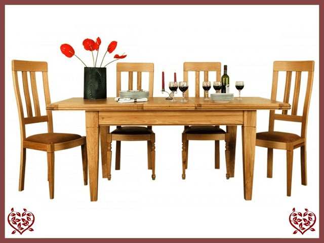 CHANCELLOR OAK EXTENDING DINING TABLE