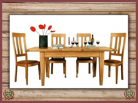 CHANCELLOR OAK EXTENDING DINING TABLE | Paul Martyn Furniture UK