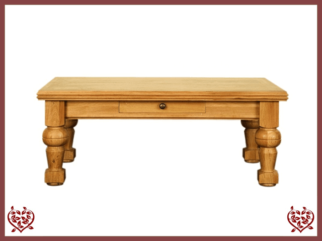 CHANCELLOR OAK COFFEE TABLE, 1 DRAWER