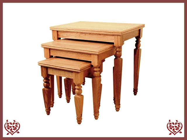 CHANCELLOR OAK NEST OF TABLES - paul-martyn-furniture
