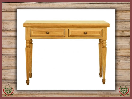 CHANCELLOR OAK HALL TABLE, 2 DRAWERS Paul Martyn Furniture UK