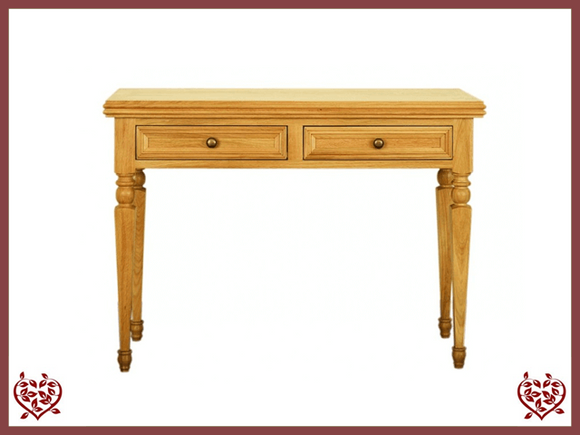 CHANCELLOR OAK HALL TABLE, 2 DRAWERS
