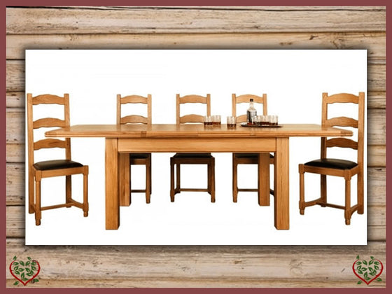 CHANCELLOR OAK EXTENDABLE DINING TABLE | Paul Martyn Furniture UK