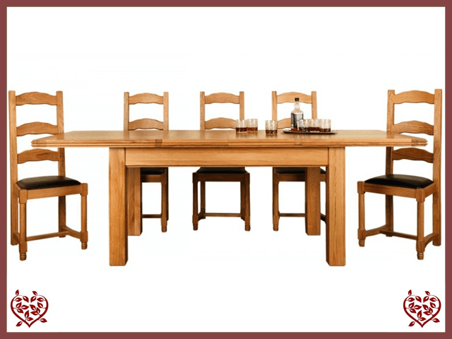 CHANCELLOR OAK EXTENDABLE DINING TABLE