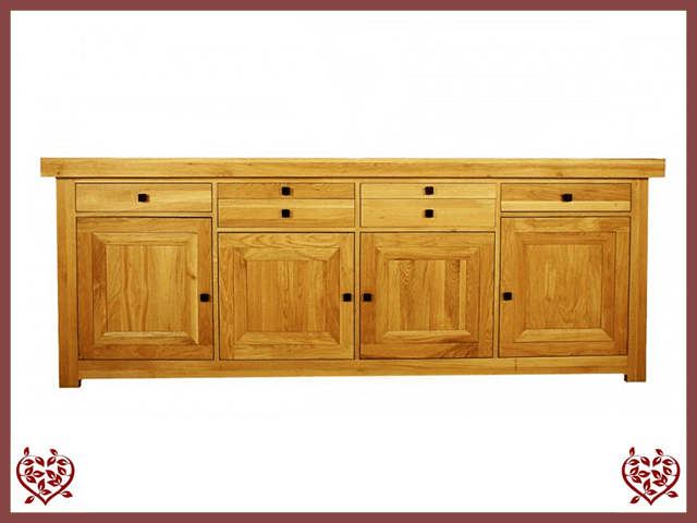 AUBUSSON OAK 4 DOOR SIDEBOARD