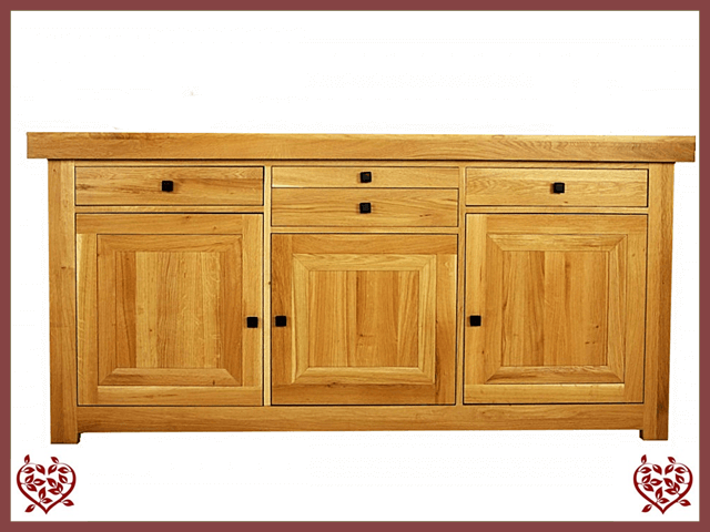AUBUSSON OAK 3 DOOR SIDEBOARD