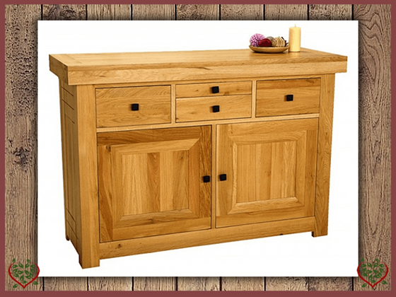 AUBUSSON OAK 2 DOOR SIDEBOARD SIDE SERVER | Paul Martyn Furniture UK
