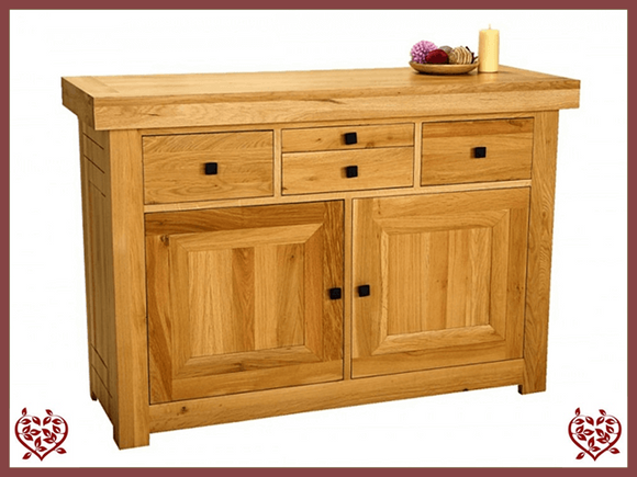 AUBUSSON OAK 2 DOOR SIDEBOARD SIDE SERVER - paul-martyn-furniture