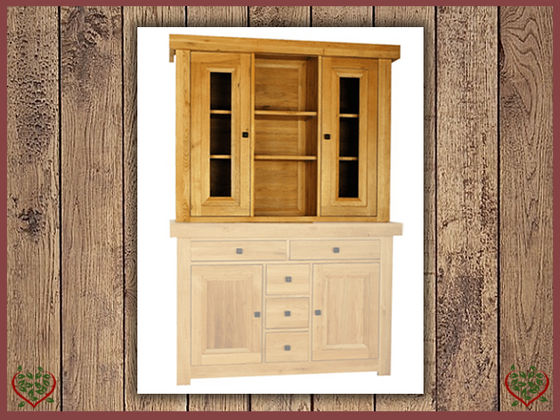 AUBUSSON OAK 2 DOOR DRESSER TOP | Paul Martyn Furniture UK